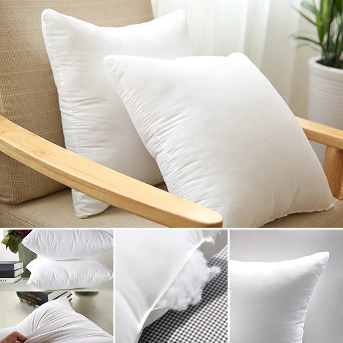 a pair of aus made cotton cover polyester filling euro square cushion pillow inserts