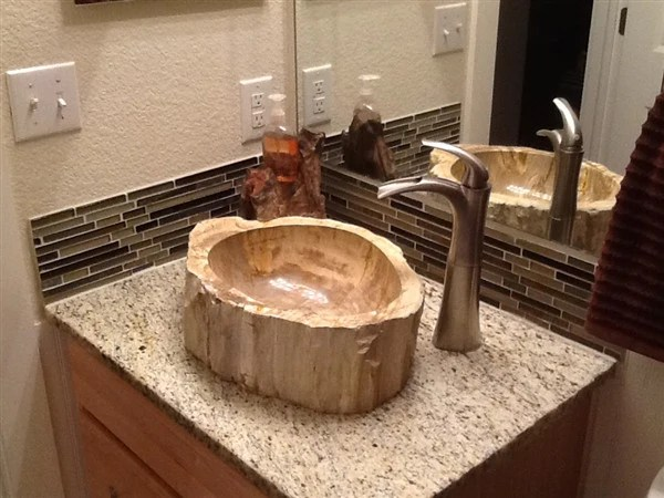 Petrified Wood Sinks Rustic Sinks