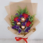 Red Rose With Ferrero Rocher Bouquet Giftr Malaysia S Leading Online Gift Shop