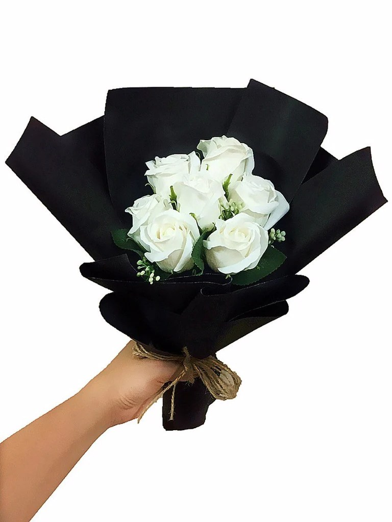 White Soap Rose Flower Bouquet | Giftr - Malaysia's ...