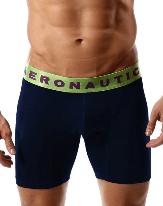 AERONAUTICA AE2005 Cotton Boxer Brief Dark Blue 10â€쳌