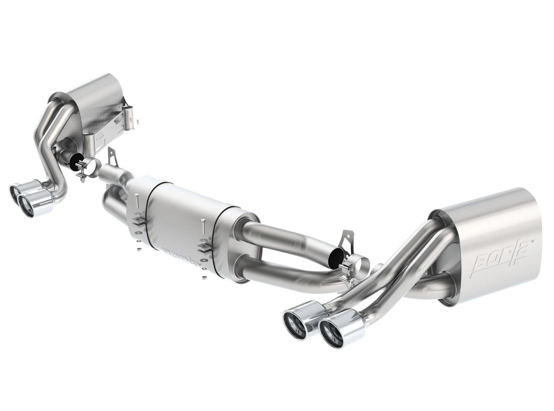 borla s type catback exhaust system 991 1 carrera