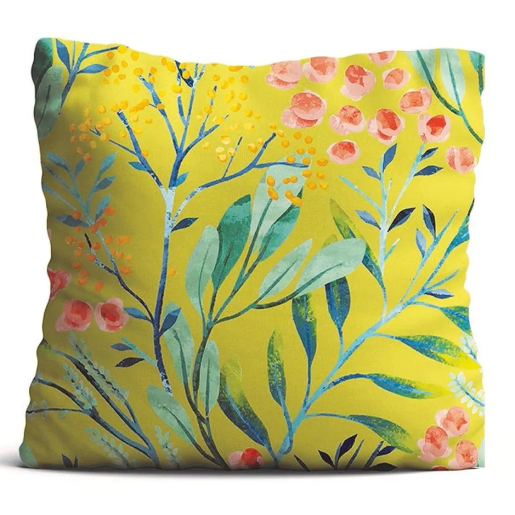 Cushion Cover Berries Mustard Propshop24 Com