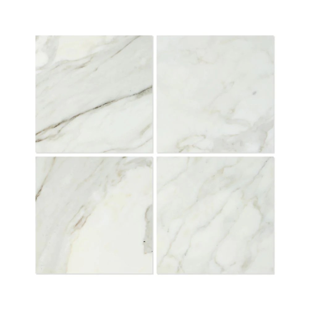 18 x 18 polished calacatta gold marble tile