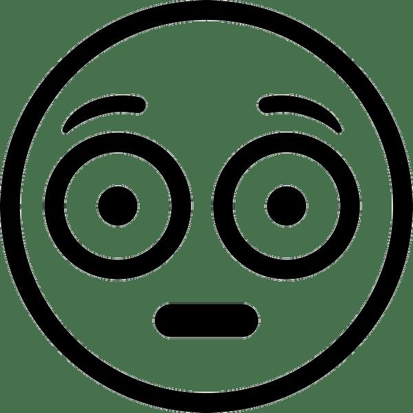 Flushed Emoji Rubber Stamp | Emoji Stamps - Stamptopia (600 x 600 Pixel)