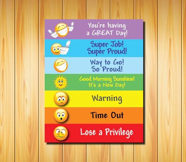 Printable Digital BEHAVIOR CHART For Kids Of All Ages