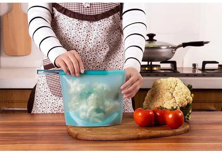 Image result for reusable silicone food bag