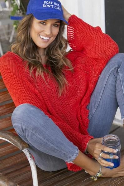 Women's Allie Crop Top Cotton Sweater's | Wooden Ships Knits