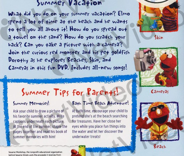 Summer Vacation Elmos World Sesame Street Dvd Movie