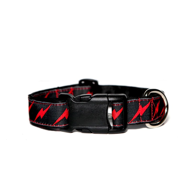 Black Bolt Dog Collar