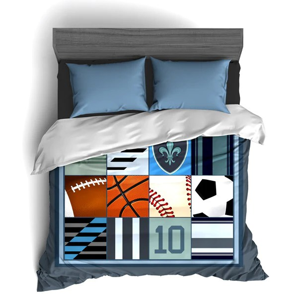 custom sports themed bedding i love all sports all star personalized 2cooldesigns