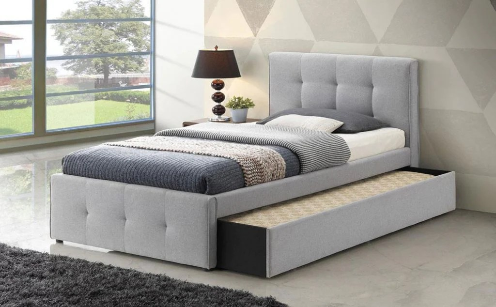 Cairns Trundle Bed Frame Silver Grey Dial A Bed