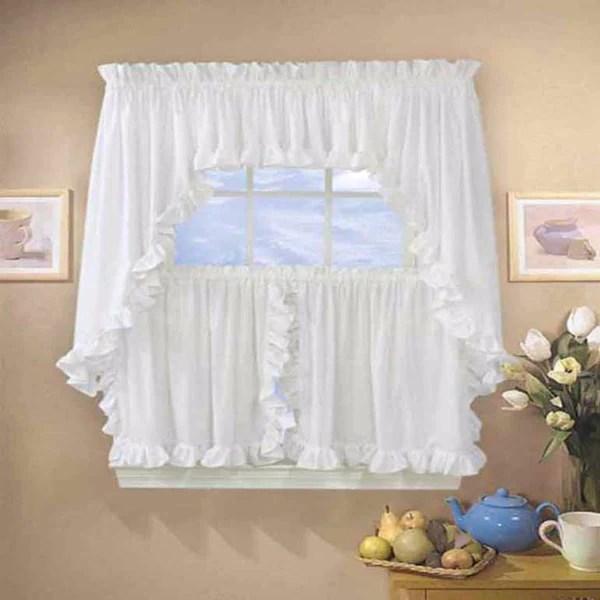 Classic Cape Cod Ruffled Kitchen Amp Tier Curtain Ellis Curtain