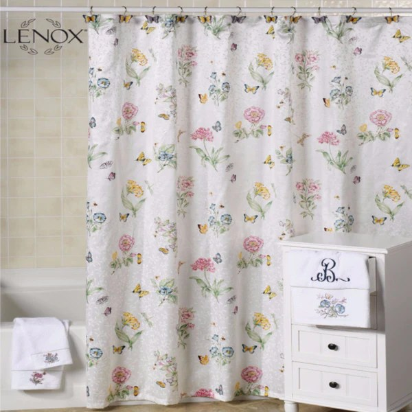 Lenox Butterfly Meadow Fabric Shower Curtain
