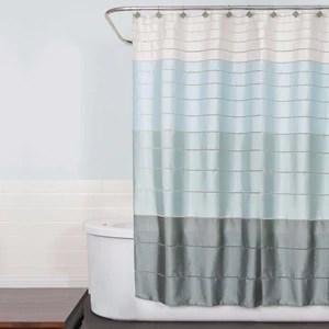 modena stripe pastel fabric shower curtain