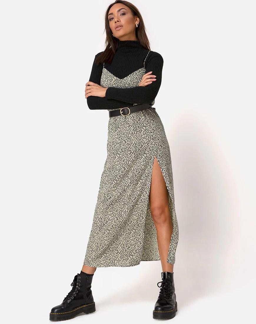 Batis Maxi Dress in Mini Jaguar by Motel 7