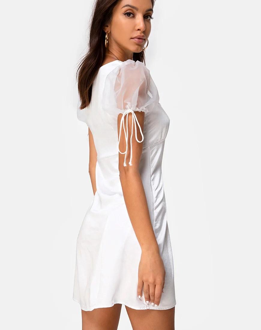 Guenelle Dress in Organza Cream by Motel