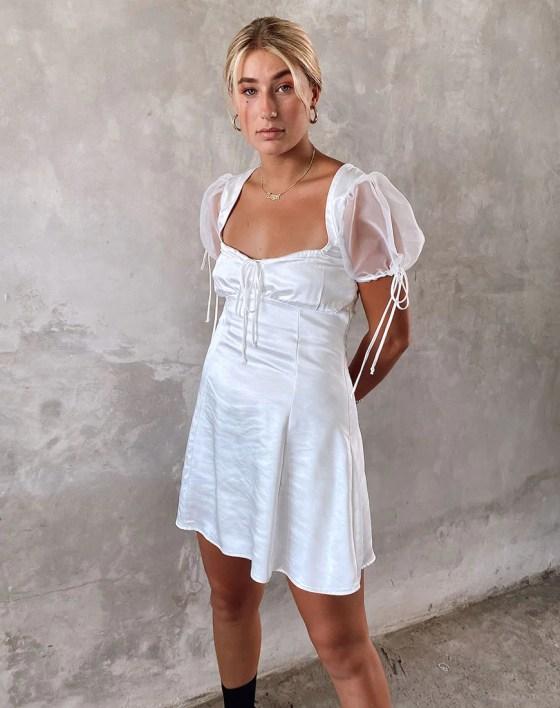 Guenelle Dress in Organza Cream by Motel 3