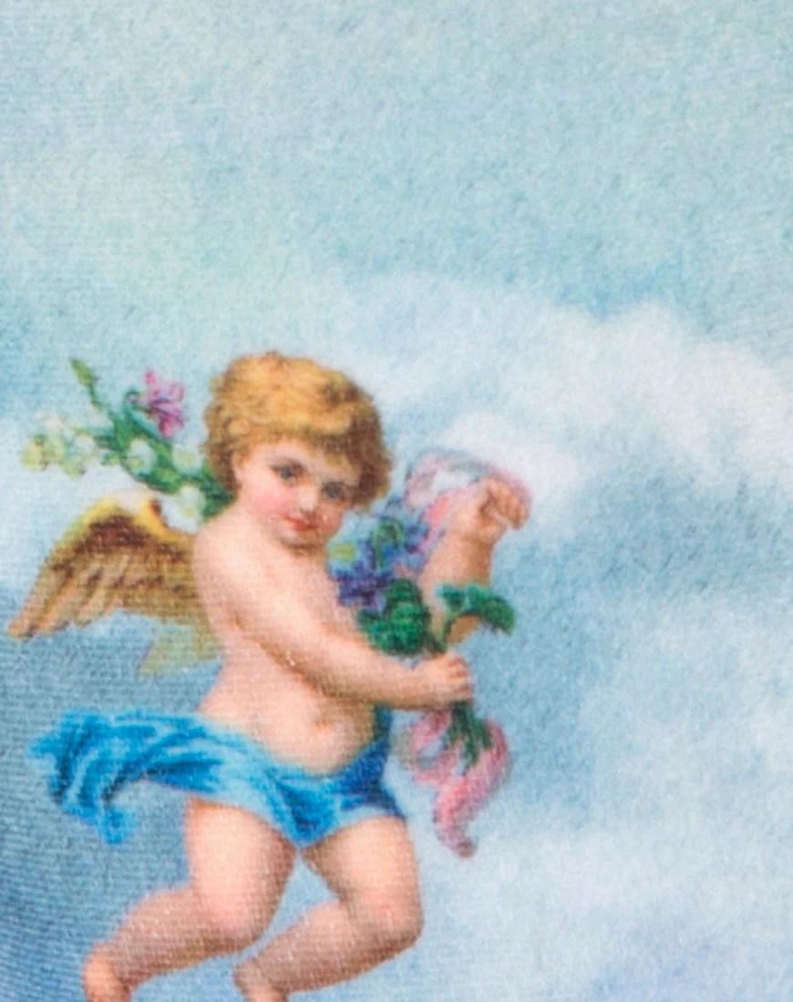 Sol Bodice in Angel Velvet Blue by Motel