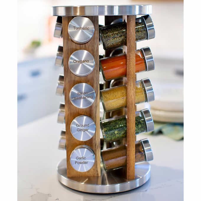 orii 20 jar revolving spice rack 20 spices herbs included supersale 99