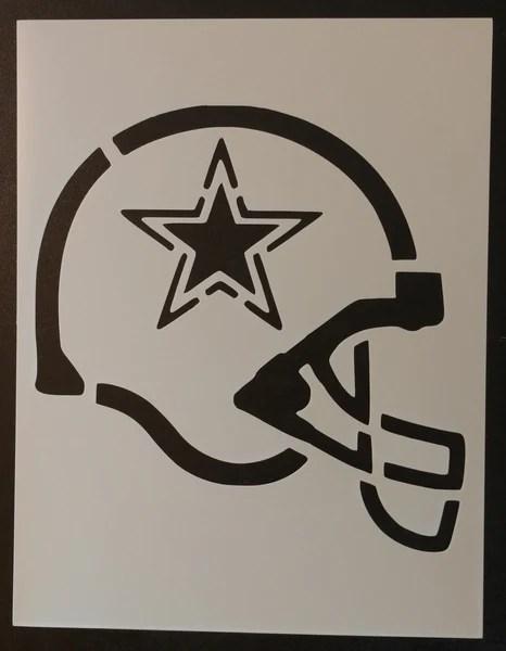 Dallas Cowboys Football Helmet Stencil My Custom Stencils