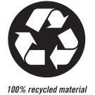 100% recycled material