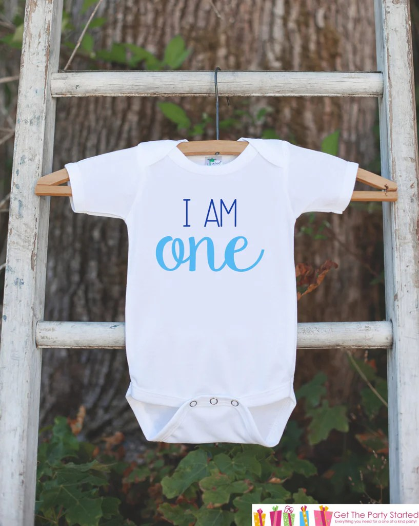 I Am One Birthday Outfit Boys First Birthday Onepiece Or Tshirt Bo 7 Ate 9 Apparel