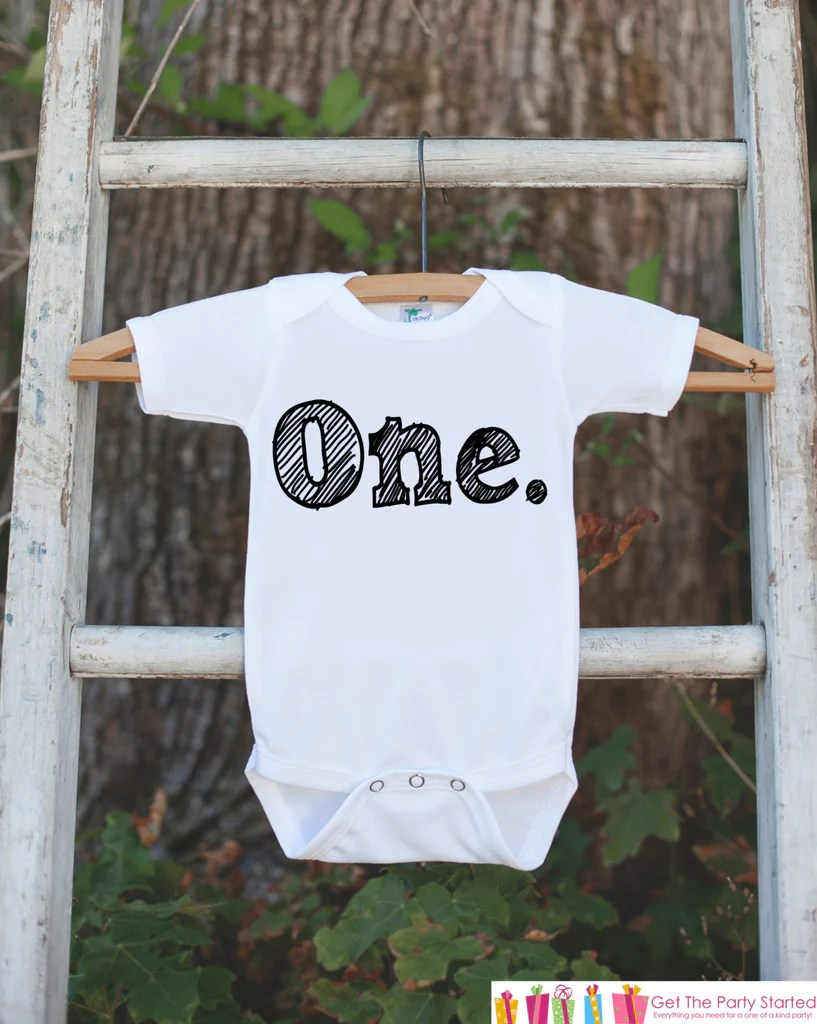Birthday Boy Outfit One First Birthday Onepiece For Boys S 1st Birth 7 Ate 9 Apparel