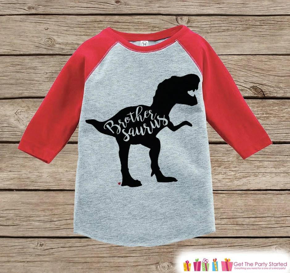 Toddler Dinosaur Shirt Sibling Shirts Brother Sister