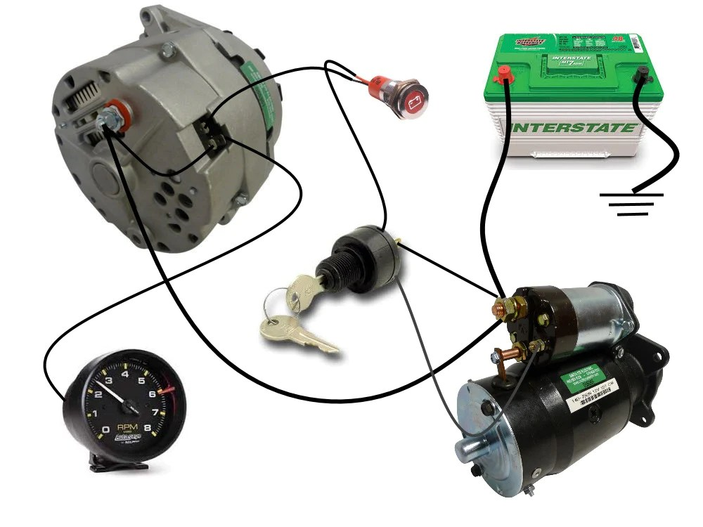 Common Delco SI Series Alternator Wiring Diagram | Smith Co Electric