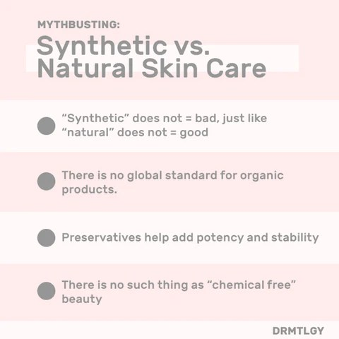 Natural and Synthetic Skincare Products: Which is Better for Your Skin -  DRMTLGY