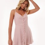 All About Eve Clothing SOPHIA WASHED DRESS - MUSK