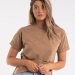 All About Eve Clothing ALL ABOUT EVE WASHED TEE - TAN