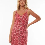 All About Eve Clothing HAND PAINTED FLORAL DRESS - PRINT