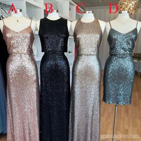 Sparkles Mismatched Bridesmaid Dresses