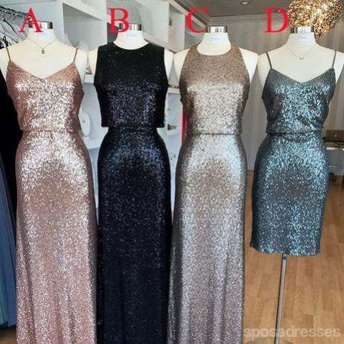 Sparkles Mismatched Bridesmaid Dresses