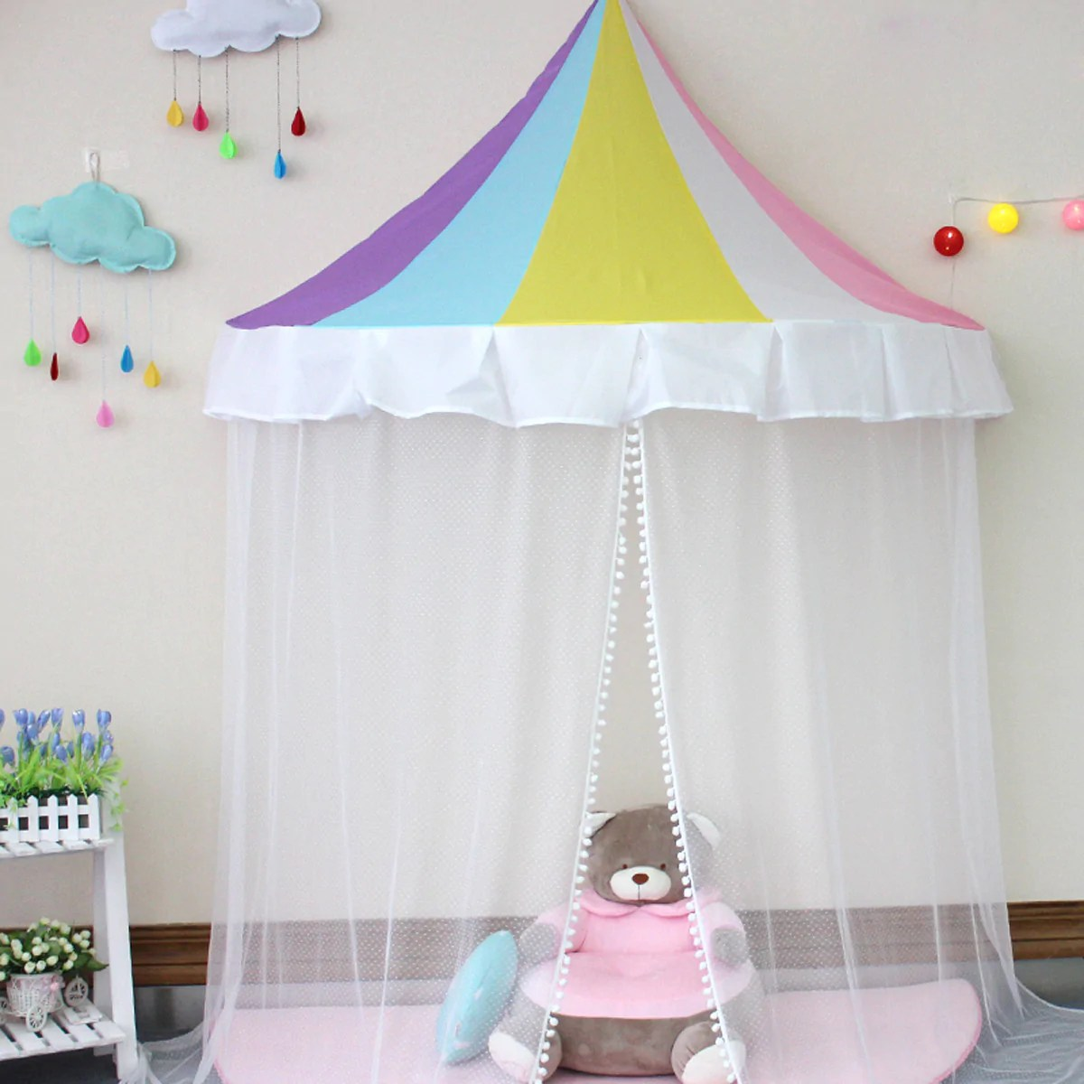 Princess Play Tent And Canopy