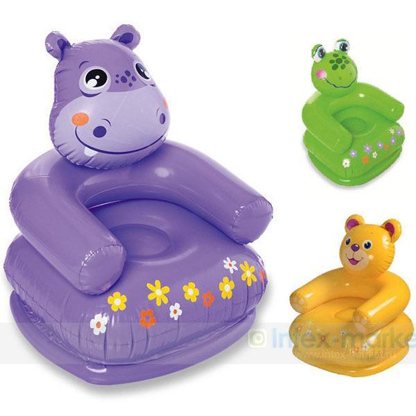 chaise gonflable en peluche enfant intex 68556