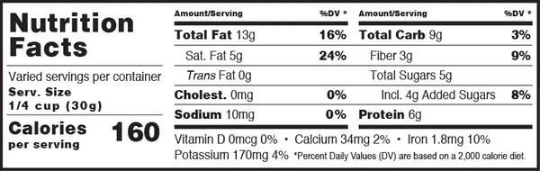 Super Hemp Blend Coconola Granola Nutrition Facts