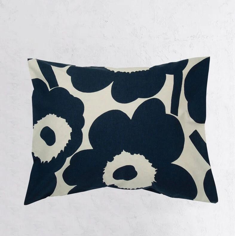 marimekko bed bundle unikko duvet quilt cover 2 pillowcases navy blue beige
