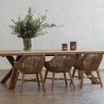 Naples Reclaimed Teak Dining Table Indoor Outdoor Timber Outdoor Setting