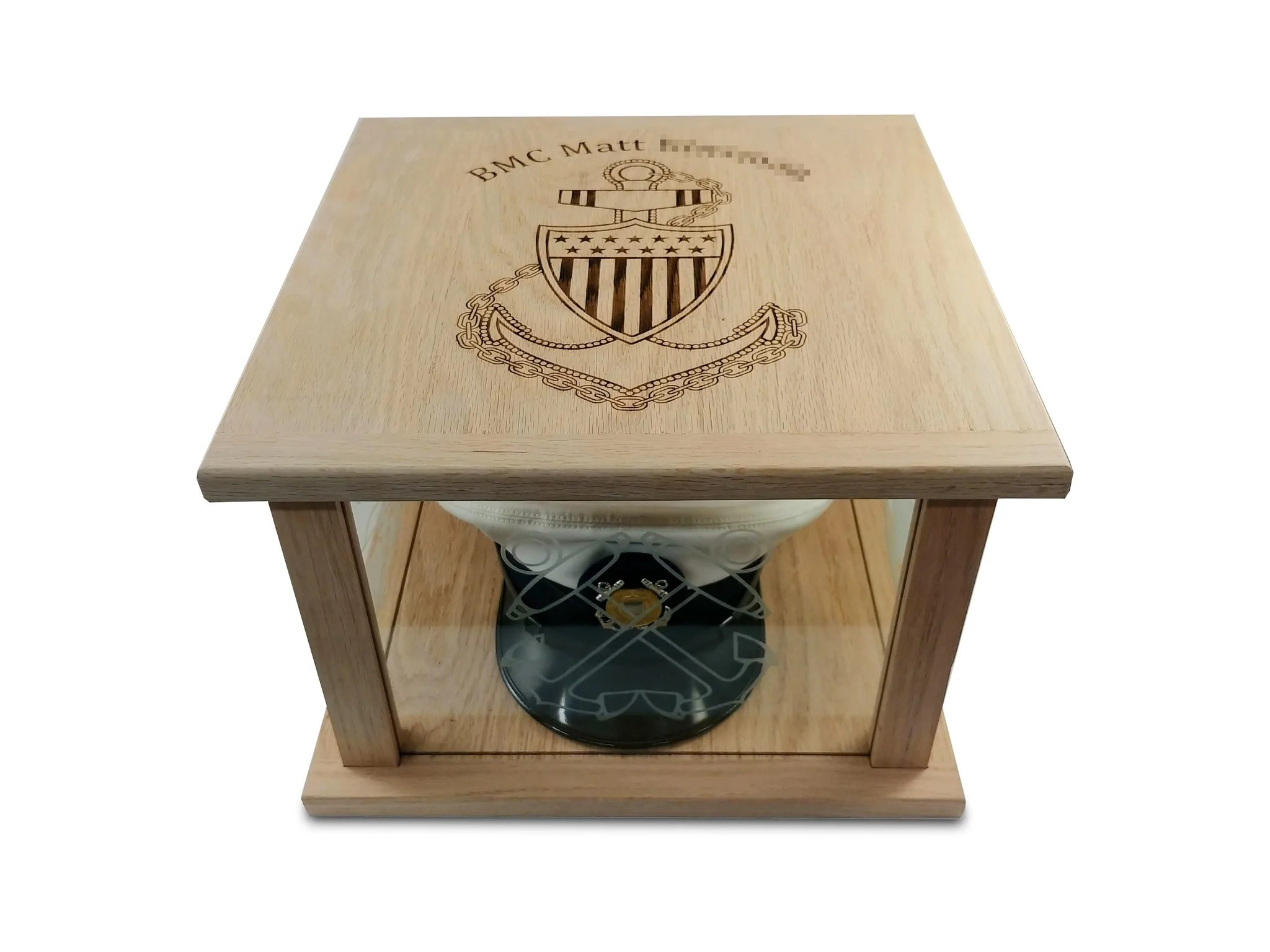 Ccti Hat Box Display Case For Navy And Coast Guard Chief Jonnychapps Mercantile