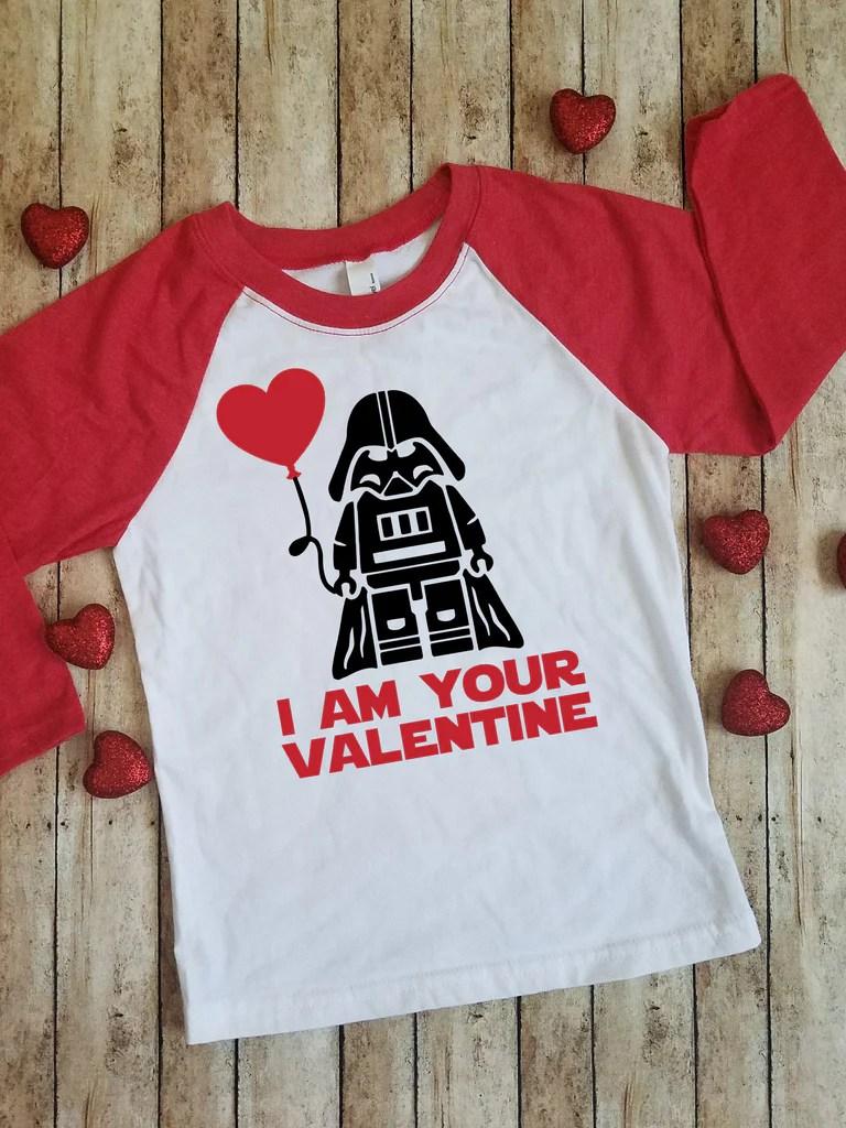 I Am Your Valentine Star Wars Darth Vader Lego Kids