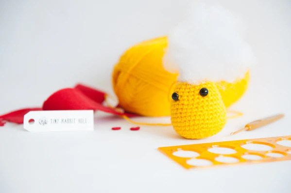 tiny rabbit hole - polyfiber cotton fiber POLYESTER PELLETS UPCYCLED stuffing amigurumi material