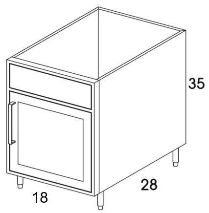sb18r shaker ash outdoor base cabinet single door sink special order