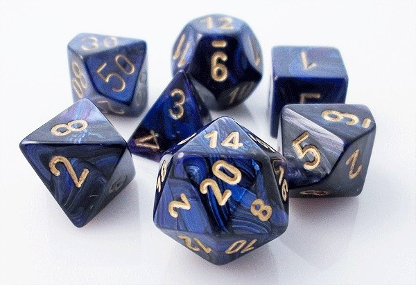 Scarab Dice Royal Blue Rpg Role Playing Game Dice Set