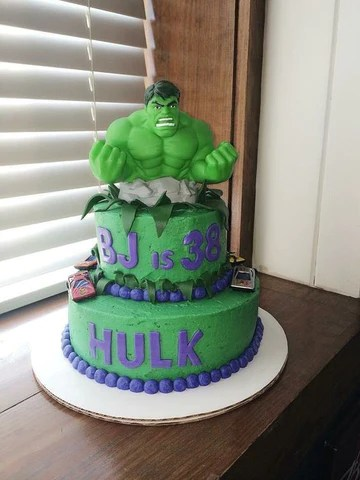 Incredible Hulk Birthday Cake Topper The Best Cake Of 2018