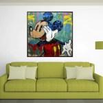 Mickey Mouse Pop Art Wall Canvas Spray Paint Style