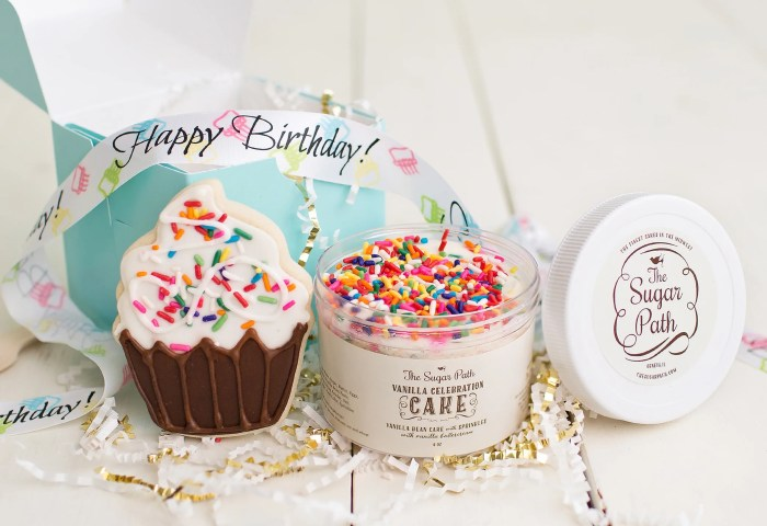 Birthday Cube Birthday Cake In A Jar And Cookie Birthday Gift