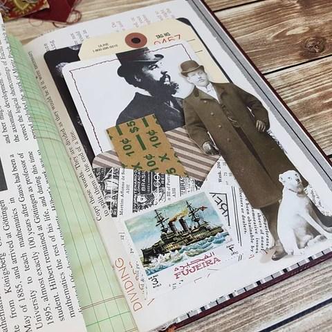 Masculine journal on Ephemera's Vintage Garden